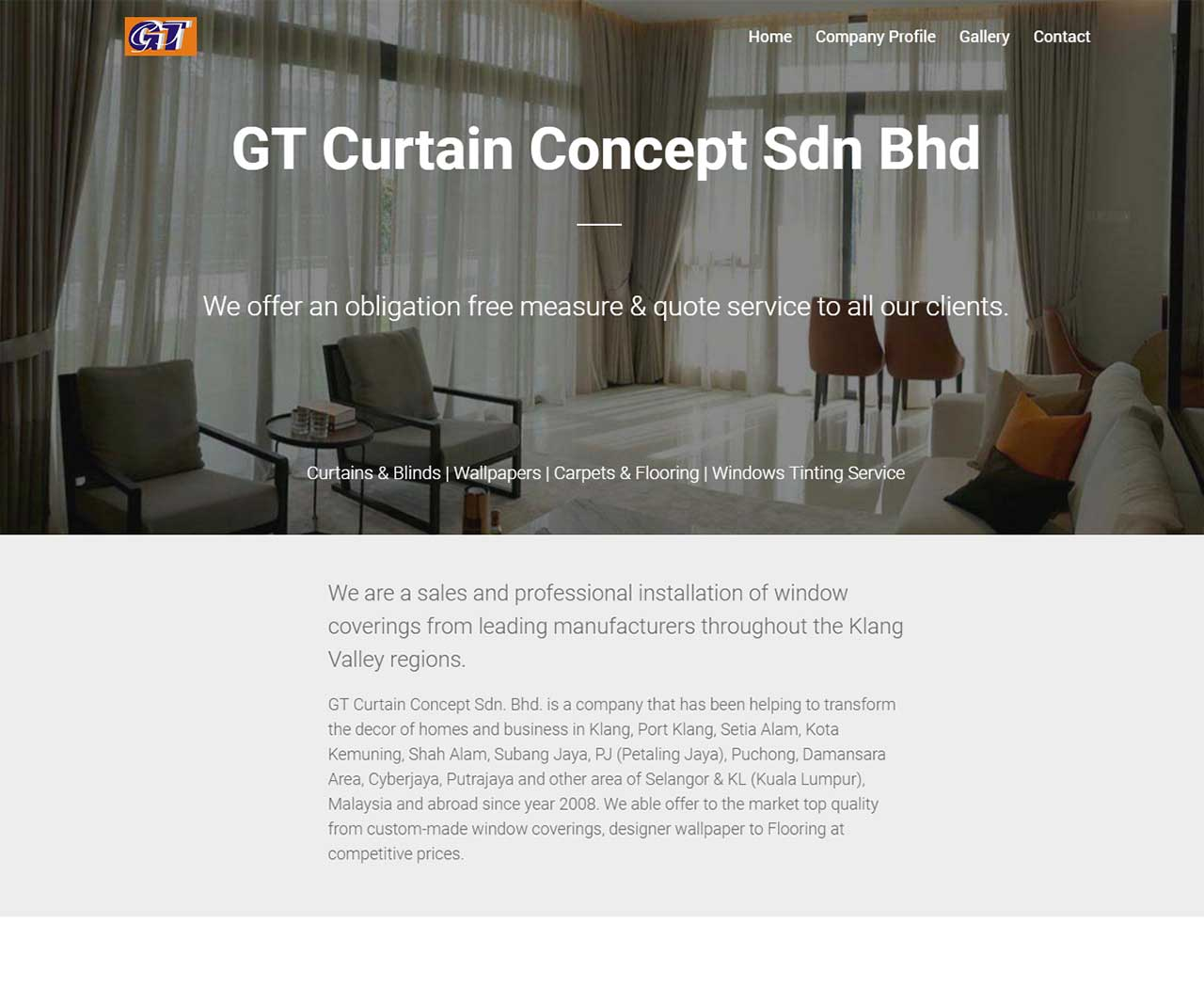 GT Curtain Concept Sdn Bhd - Web Design, Local SEO Services by Sky Rocket Digital   Klang Valley & Selangor in Malaysia
